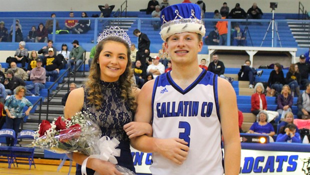 Basketball Homecoming King and Queen